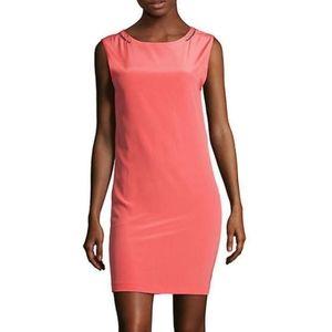 Maje Neon Silk Bodycon Crystal Mini Dress XS